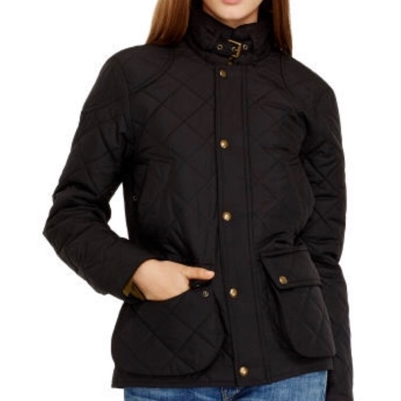 99738a72b Black Quilted Bomber Jacket by Polo Ralph Lauren